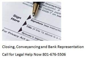 closing conveyancing and bank representation