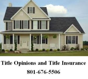 title opinions and title insurance