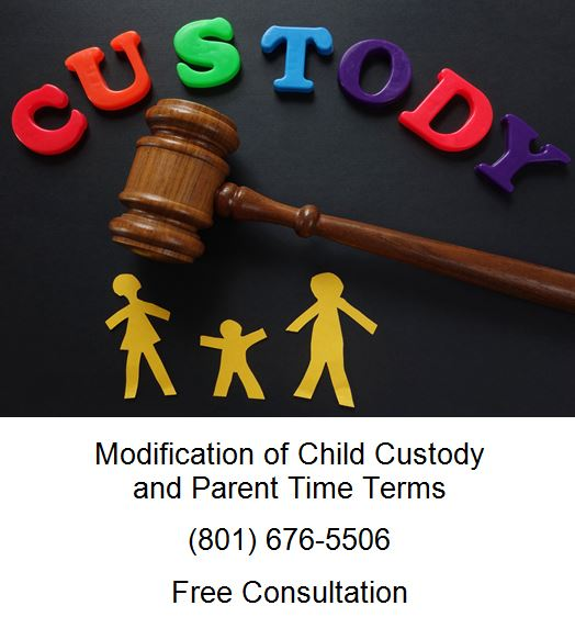 modification of child custody and parent time terms