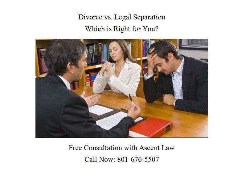 divorce vs legal separation in utah