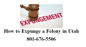 how to expunge a felony in utah