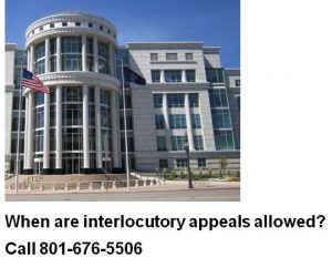 when are interlocutory appeals allowed
