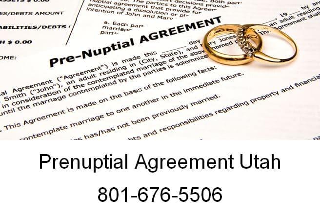 prenuptial agreement utah