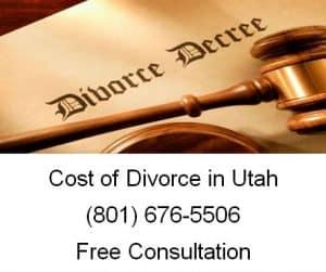 cost of divorce in utah