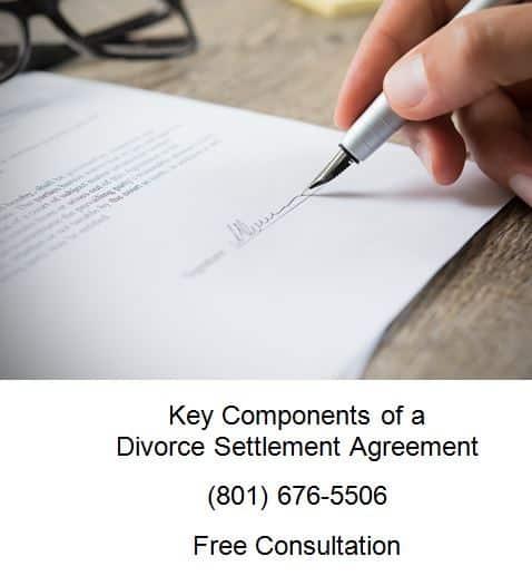 key components of a divorce settlement agreement