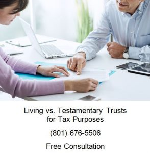 living vs testamentary trusts for tax purposes