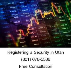 registering a security in utah