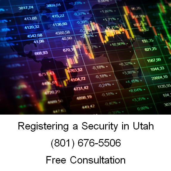 registering a security in utah