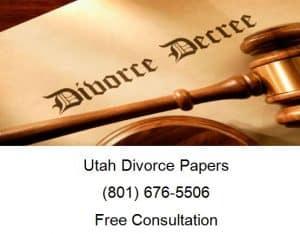 utah divorce papers