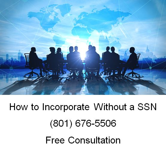 how to incorporate without ssn