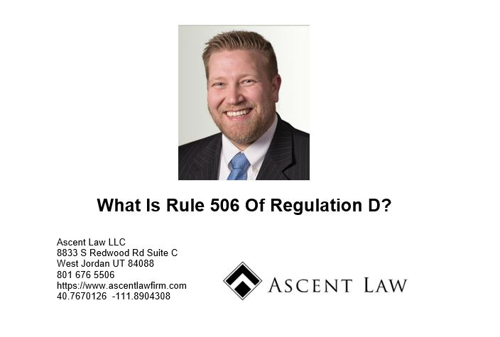 What Is Rule 506 Of Regulation D