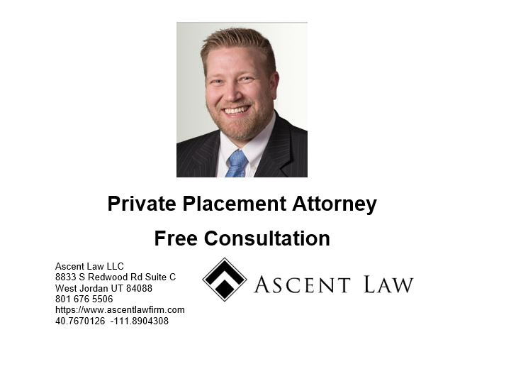 What Is Private Placement Of Shares In Utah